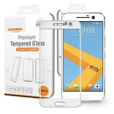 HTC 10 One M10 Premium White Full Cover Tempered Glass Screen Protector Guard