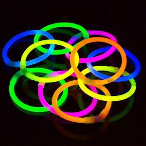 50 Pack Extra Thick 6mm Glow Bracelets Ultra Premium Glow Light Sticks Necklaces