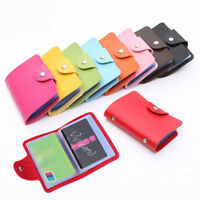 New Unisex Travel Cards Wallet PU Leather Business ID Card Credit Card Holder
