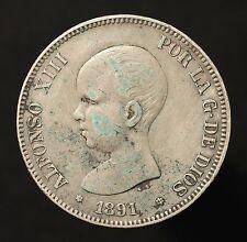 Kgr. Spanien, Alfonso XIII., 5 Pesetas 1891