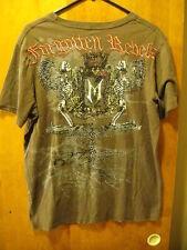 FORGOTTEN REBELS Praying Angel Winged SKULLS Rhinestone Embelished T Shirt XL