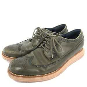 Size Kohl Khan Cole Haan Leather Shoes Wing Tip Dress 8.5 Ghana Green Mens