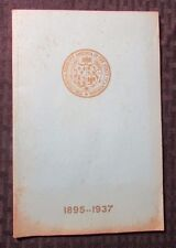 1895-1937 National Society COLONIAL DAMES OF AMERICA State of Louisiana VG