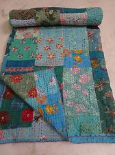 Beautiful hand made quilt with embellishments from India
