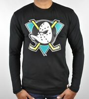 Mitchell & Ness Anaheim Mighty Ducks NHL Team Logo Long Sleeve T-Shirt