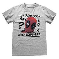 OFFICIAL Deadpool T Shirt Chimichangas Marvel Antihero Movie X MEN S M L XL