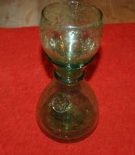 Karaffe aus Glas antik BIOT , grüne Farbe hell - 22,3 cm