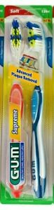 5 Pack Sunstar GUM Supreme Soft Advanced Plaque Removal Toothbrush - 2 Count