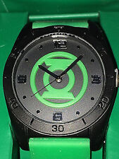 GREEN LANTERN: CHEST EMBLEM LOGO WATCH IN GIFT BOX by ACCUTIME GLN9015