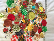 Yo Yo Fabric Quilt Vintage Embellishments Flowers Button Trim