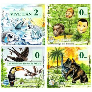 BLOCS SOUVENIR DE MARIGNY N°12A/D JUIN 2000 PASSAGE AN 2000
