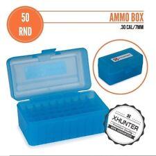 Ammo Box Case 50 Round Rifle Bullet Storage .338rcm .243 308 Win 6.5x50 7mm