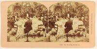 Mariage Il Diner Foto Stereo PL55L6n Vintage Albumina 1897