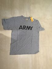 US ARMY PT SHIRT, POLY/COTTON, NEW OLD STOCK, SMALL