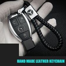 Universal Black Calf Leather Alloy Keychain Gift Decoration Gift Accessories