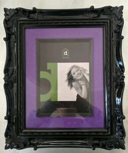 Fancy ornate photo / picture frame rrp $49.95 shiny black & purple hang or stand