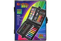 51pc Childrens/Kids Art Case Colour Paints Pencil Crayons Felt Tip Pens Set