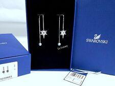Swarovski Fantastic Pierced Earrings, Star Clear Crystal Authentic MIB 5230603