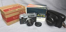 NICE Old Konica Auto S 35mm Rangefinder Camera in Original Box