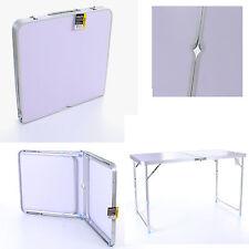 Pliable table de camping en aluminium portable picnic bbq party cuisine extérieure jardin