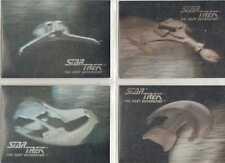 Star Trek TNG Inaugaural Edition Four Card Hologram Chase Set - Impel 1992