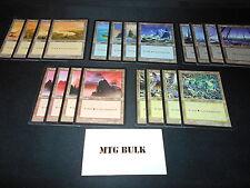 20 Basic Land Lot - URZA'S SAGA - 1x of each art - SP/NM - Magic MTG FTG