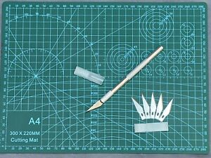 Rulers for Carving Craft and Art Nicpro A5 Cutting Mat Self Healing 6 x 8 Double Sided with #1 Hobby Knife 20 PCS SK5 Exacto/Blades #11
