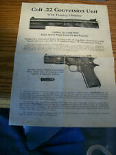 VERY EARLY VINTAGE COLT ACE FLOATING CHAMBER CONVERSION UNIT INSTRUCTION MANUAL