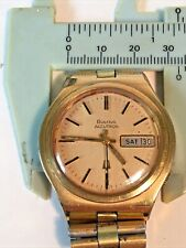 Vintage 1970's Bulova Accutron Day/Date Tuning Fork Watch