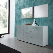 Schuhbank 3762 Scalea Schuhschrank Flurmöbel Glas weiß Lack von Germania 97x40