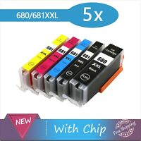 5x PGI-680XXL CLI-681XXL Inkjet for Canon PIXMA TS6160 TS6260 TS9560 TS8160/8260