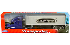 Welly 1/32 Transporter Freightliner Cascadia & Container Model Blue 32696W-BL