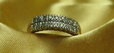 9ct Yellow Gold 18 Diamonds Stone Half Eternity Ring