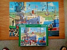 Falcon de luxe DOWN AT THE DOCKS 1000 Piece Jigsaw Puzzle - Complete.