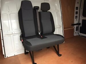 VAUXHALL MOVANO RENAULT MASTER NV400 DOUBLE PASSENGER SEAT 2010-2018 EXCELLENT