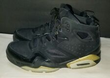 Nike Air Jordan Flight Club '91 Basketball Shoes Black/Gold 555475-031 Sz 8.5