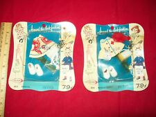 """Vintage lot Around the Clock Fashions fits 3 1/2"""" - 4"""" Doll Clothes 60s nurse"""