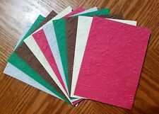 10 CHRISTMAS COLLAGE Embossed A2 Card Fronts Recollection HOLIDAY Cardstock