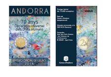 "Coincard 2 Euro Sondermünze Andorra 2018 ""Menschenrechte"""