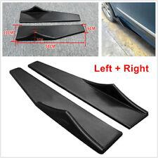 Pair 58cm Car Bumper Spoiler Rear Lip Side Skirt Extension Splitter Winglet Wing