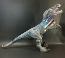 Velociraptor Dinosaur Soft Vinyl Toy 12� Tall Gray Blue See Photos