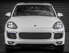 Porsche Cayenne Black 3pcs Bumper Mesh Grille Grill 2015 2016 2017 S GTS Turbo