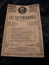 Partition Les Saltimbanques Louis Ganne Opéras Comique Après le sombre orage