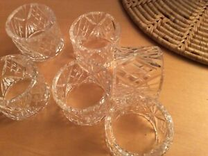 napkin rings ,glass unknown maker