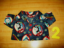 """THOMAS THE TANK ENGINE BUTTON FRONT SHIRT TRAIN for 15-16"""" CPK Cabbage Patch Kid"""