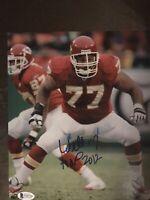 Willie Roaf Autograph 8x10 Signed Photo w/ Beckett COA Kansas City Chiefs HOF