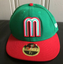 3dc9864cd19 Mexico 2017 World Baseball Classic 59Fifty Fitted Cap Hat New Era Size 7 1 2