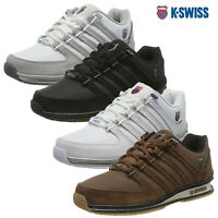 K-Swiss Mens Comfortable Low Top Classic Leather Suede Rinzler Trainers Sneakers