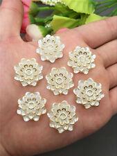 NEW DIY 8PCS 20MM Resin Flower flatback Appliques For phone/wedding/craft U