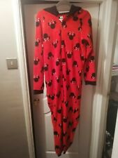 Red Micky Mickey Mouse bodysuit one piece Pj Pajama Size Meduim George